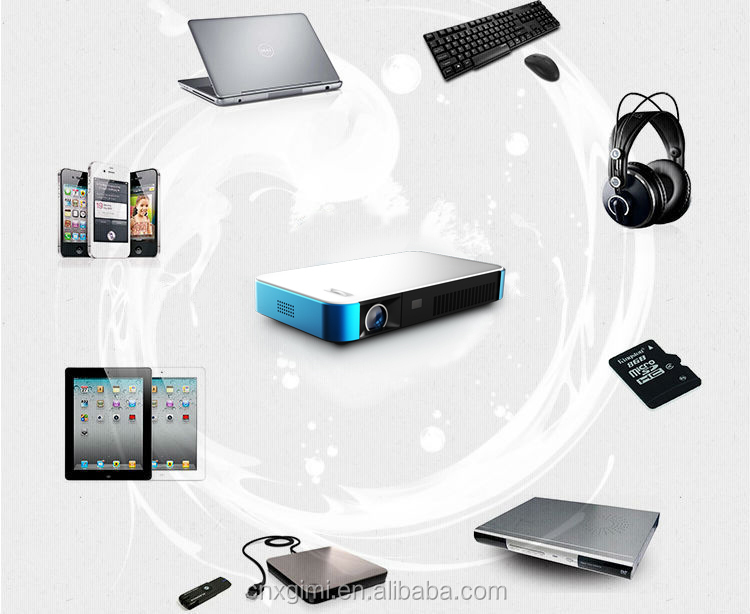 Low cost home theater full hd 3d led 1080p holographic for Bluetooth projector for iphone