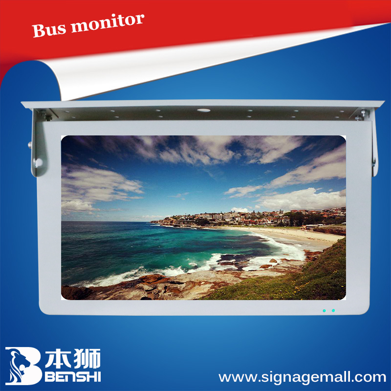 "22"" HD shock-resistant Bus Handle Advertising/ water-proof Android wifi 3G 4G bus tv monitor"
