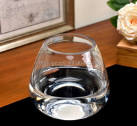tall transparent round glass flower vase fish bowl tank