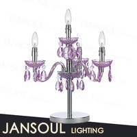 multicolor crystal chandelier table lamp series hot selling table top crystal centenpieces for home wedding decoration