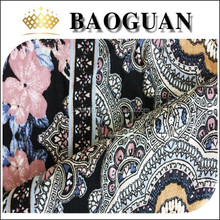 100% printed rayon for sex old woman garment BG2310