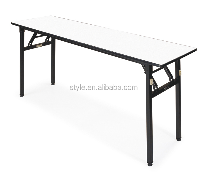 E-009 rectangular tables, PVC foldable banquet hall tables wholesale for hotel, resteraunt, dinning room