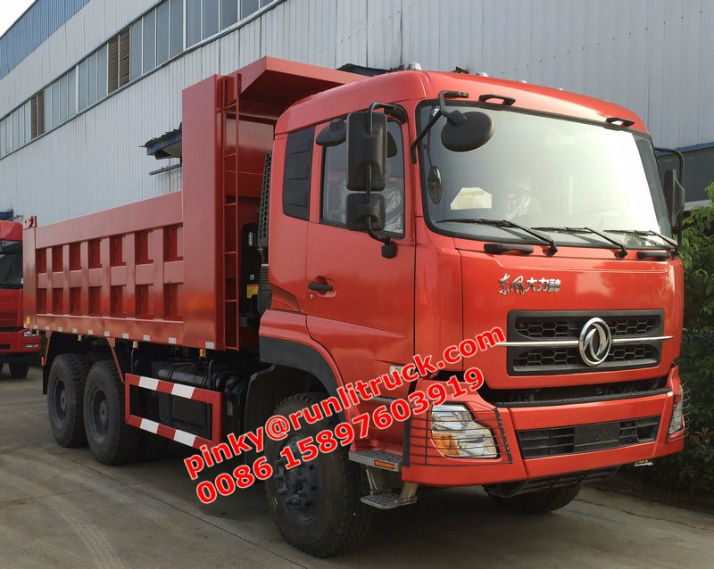 10Wheels Tipper Truck 6x4 30Tons Dumper Truck 350HP Dongfeng Heavy Duty Trucks For Sales