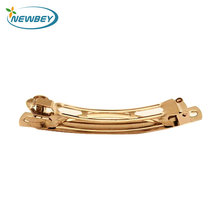 China suppliers wholesale metal french plain hair barrettes for beauty decoration in 7cm