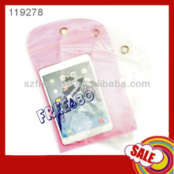 "26*20.3cm Ziplock Waterproof Bag Case for iPad mini/8"" tablet"