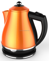 CE GS Aprroved 1.7L Orange Color Stainless Steel Cordless Electric Water Kettle / HDK-210B-O