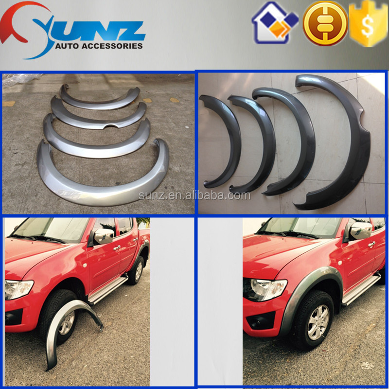 for <strong>Mitsubishi</strong> <strong>L200</strong> Triton 2007 wheel arch fender ABS plastic black car fender flares for wholesale