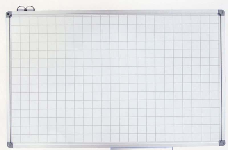 magnetic whiteboard with grid lines