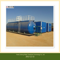 RO seawater desalination treatment system for using boiler water