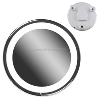 8 inch led light magnifying mirror shaving mirror light round makeup mirror with touch sensor switch