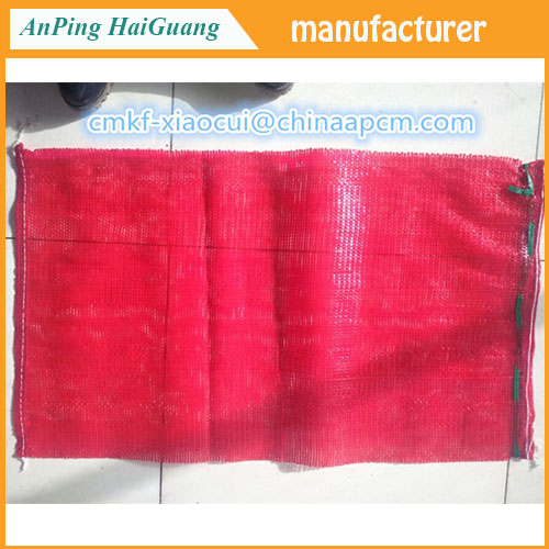 manufacture knitted pe vegetable mesh bag for packing onion
