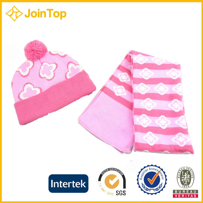 Jointop Celebrate Xmas Baby Knitted Hat And Gloves Set