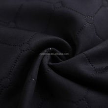 Free design service double jersey polyester scuba knit emboss fabric uk