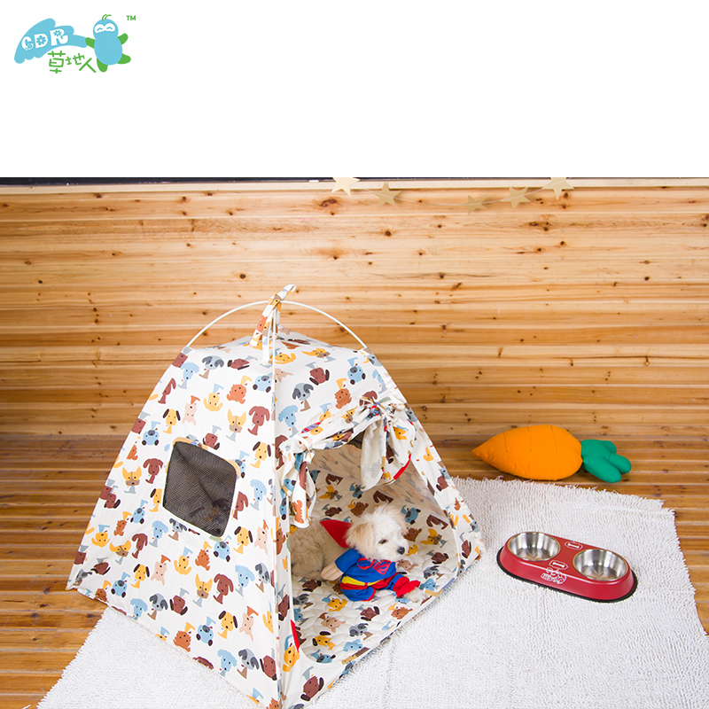 Glass fiber rod fabric pet dog play teepee tent india teepee pet house