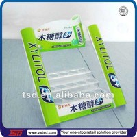 TSD-A122 Double mint display sweets/ acrylic sweet display stand/ chewing gum display rack
