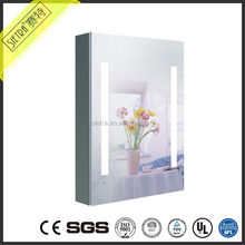 led lighted modern dressing mirror side cabinet