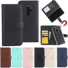 Flip Cover Card Holder Detachable Wallet Leather Phone Case For Samsung Galaxy S9 Plus