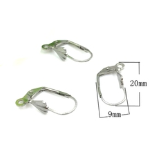 DIY jewelry supplies 316L stainless steel drop earrings findings CZ leverback earring clasp accessory findings