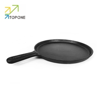 Round cast iron griddle Cookware skillet Pizza Pan