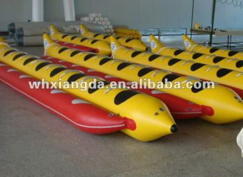 China Hot selling PVC or Hypalon fabric Inflatable water banana Boat