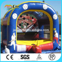CILE Attractive Baseball Boy Printing Inflatable Castle Trampoline Arena