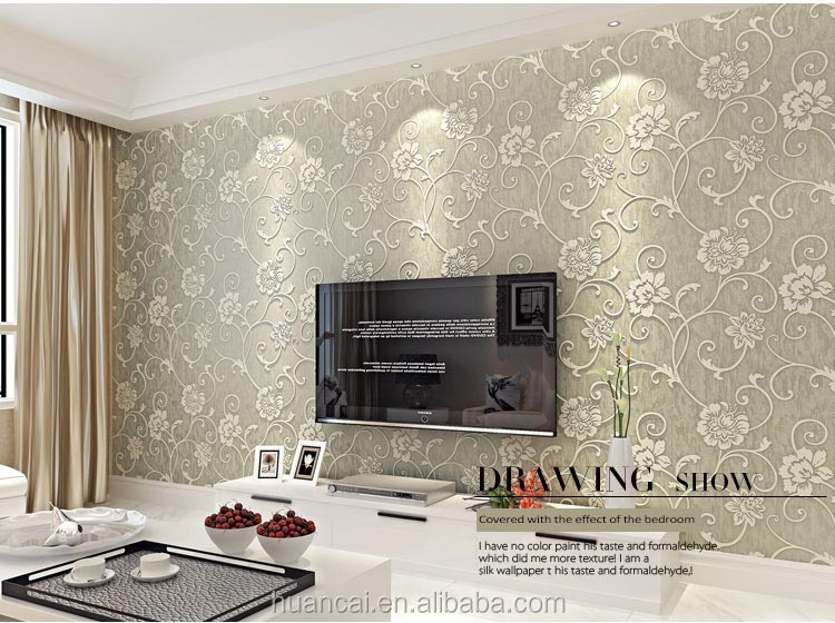 hot interior 3d wallpaper in popular wood brick stone designs