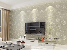 hot interior 3D wallpaper in popular wood brick stone designs vinyl wallpaper