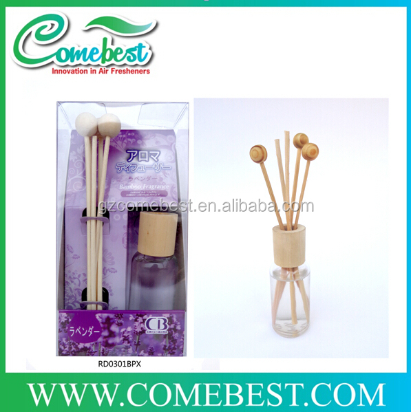 30ml hot selling wholesale glass bottle aroma reed diffuser air freshener with fashion design