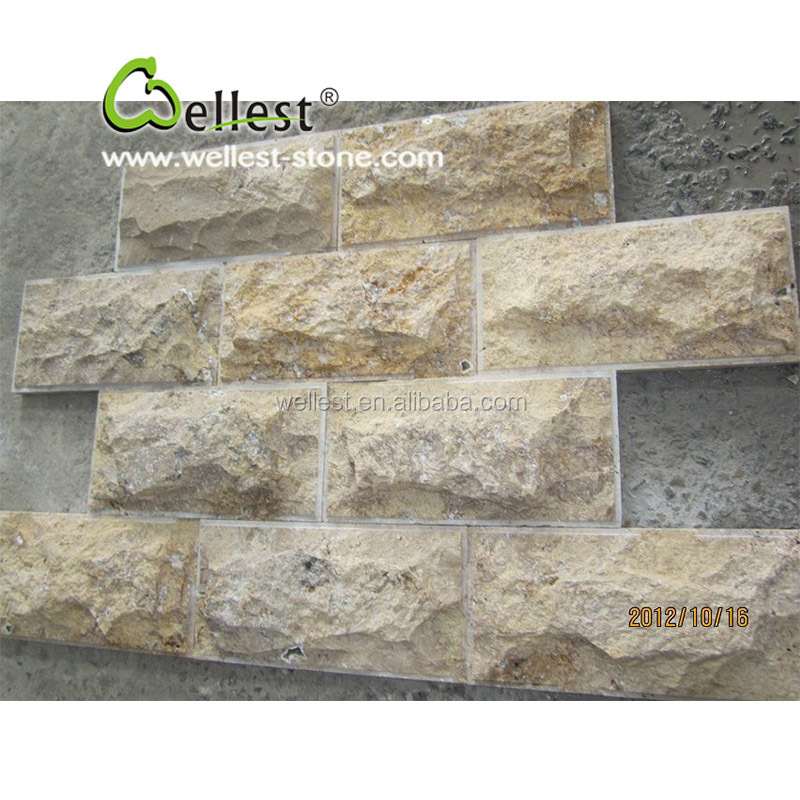 Natural Split Face travertine Mushroom Stone