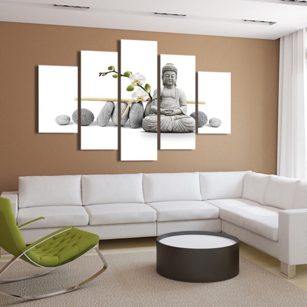 gallery wrapped cheap stretched framless buddha digital canvas prints from custom photos