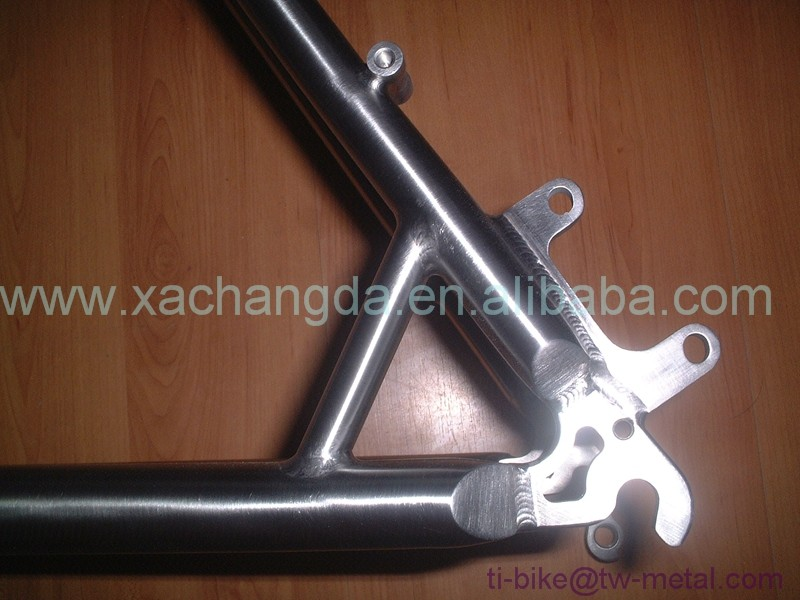 high quality mtb bicycle frame, V brake and Disc brake 26 inch mtb frame, titanium mtb bike frame with bending down tube