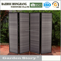 HJ-1698-2 synthetic rattan garden furniture with gray screen