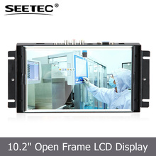 10.2'' Rear Housing open frame monitor HDMI VGA input resistive display with touch