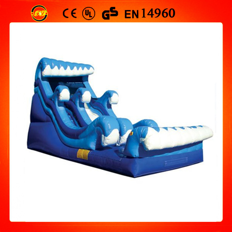 2014 popular great waves inflatable water slide