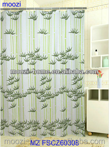 water repellent textile plastic hooks Frost shower curtain