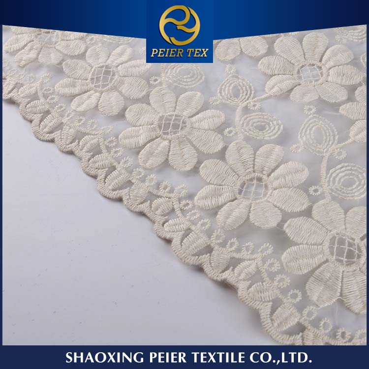 Fabric supplier embroidery dress material in china, machine embroidery stabilizer backing, with handwork fabric