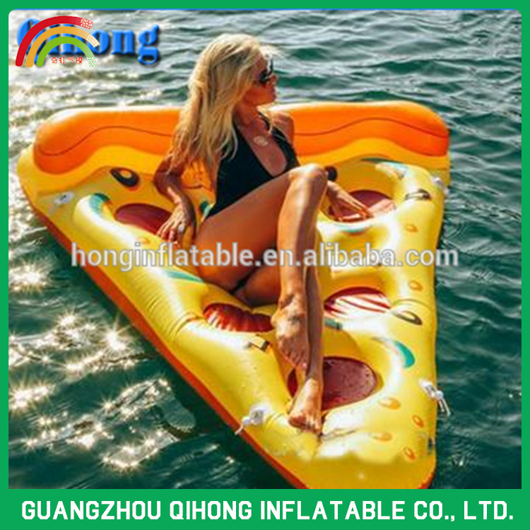 2016 Fun PVC water inflatable pizza slice float air mattress in stock, swim float
