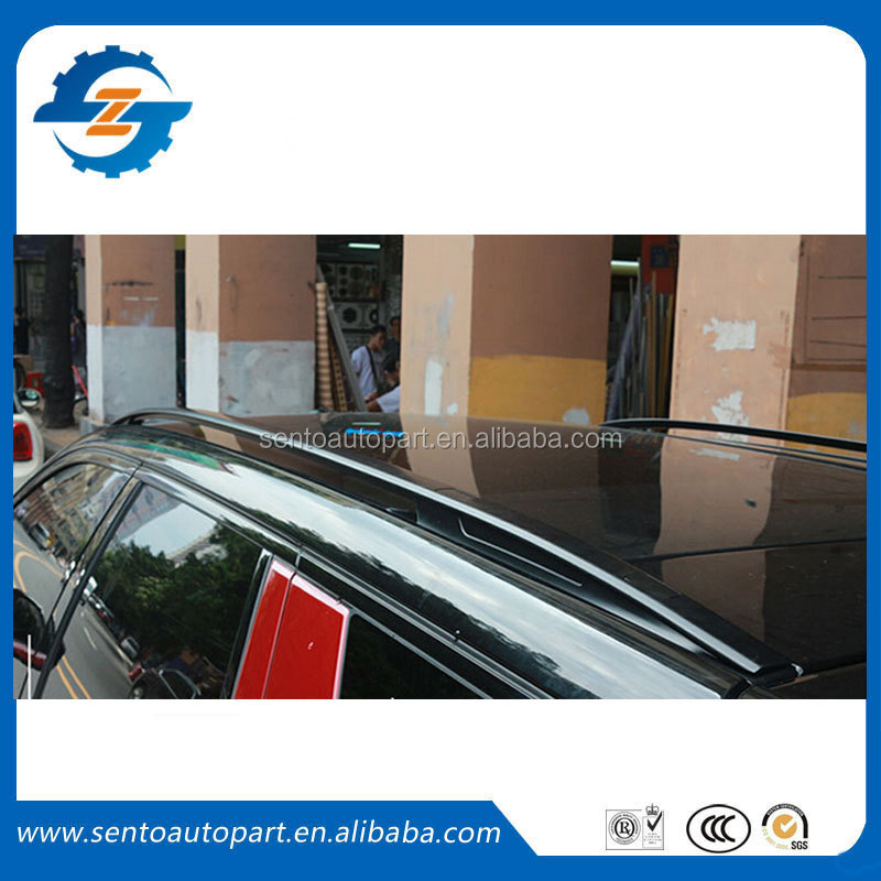 High Quality Black color aluminium alloy luggage roof rack rail bar for discovery sport 15 16