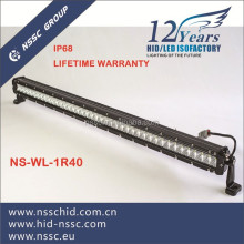 LED light bar single row straight light bar with black AL housing
