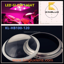 100mm LED glow light lens 120 degree special design for CREE COB 3590 leds