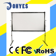 100 Inch 4:3 Portable Fast Fold Projection Screen Material PVC Soft Matte White/PVC Soft Metal