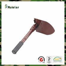 Military multifunction alloy steel collapsible snow mini shovel