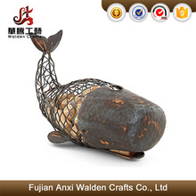 Metal whale shaped wine cork holders wine cork crafts