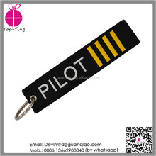 Cool design cheap custom logo embroidery fabric airplane keychain lanyard with key ring