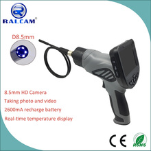 Snapshot button and video recording function visual inspection industrial borescope of deep bores