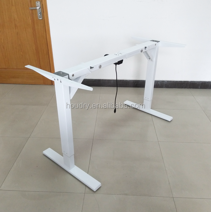 Fully automatic single motor height adjustable laptop desk