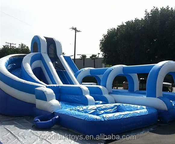 made in china outdoor playground inflatable water slides for rent