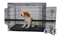 stainless steel double dog cages for sale