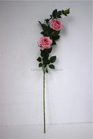 120 cm H Pink Hibiscus Rose Two Flowers and One Bud for Decoration LGH16-03