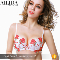 New Arrival Fashion Applique Detailed Hot Images Women Sexy Bra Underwear